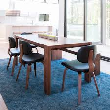 Blue Leather Dining Chairs by Thompson Chair Dining Chairs Gus Modern