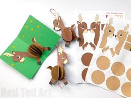 paper reindeer ornament ted s