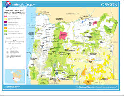 Oregon Maps by Map Of Oregon Map Federal Lands And Indian Reservations
