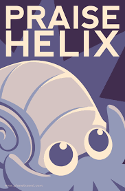 Helix Fossil Meme - i may be a little late to the fanart party but i drew a lord helix