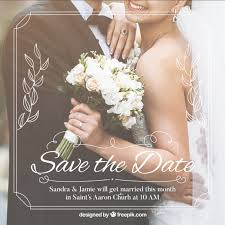 Save The Date Invitation Romantic Save The Date Invitation Template Vector Free Download