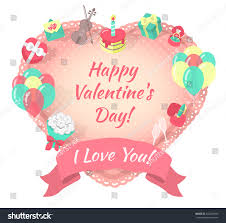 modern flat vector colorful valentines day stock vector 242248495