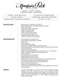Sle Resume For Service Desk Cover Letter Front Desk Resume Exles Dental Front Desk Resume