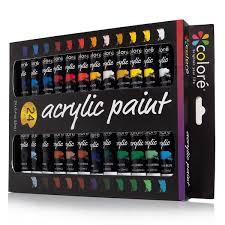 colore acrylic paint set set of 24 colors colore