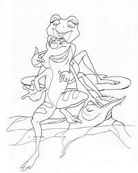 gallery frog coloring princess frog coloring pages