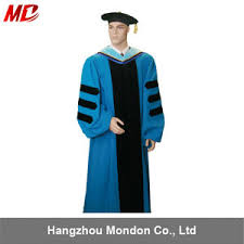 doctorate gown china sky blue phd regalia deluxe doctoral graduation gown china