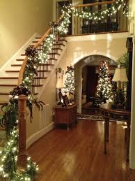 Christmas Banister Garland Staircase Garland Decorating Ideas U2013 Decoration Image Idea