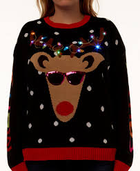 light up sweater it s our trendy plus size light up reindeer sweater