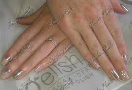 gel polish with chrome on natural nails angis nails