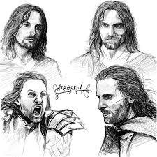 aragorn sketches by manweri on deviantart