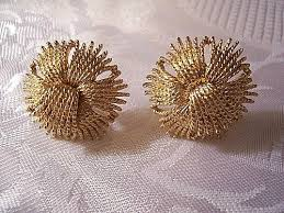 monet earrings monet braided tassel clip on earrings gold tone vintage