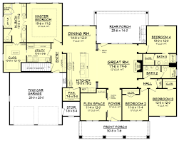 Floor Plan For Master Bedroom Suite Craftsman Style House Plan 4 Beds 3 Baths 2639 Sq Ft Plan 430