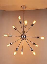 Pendant Lighting Vintage Sputnik Chandelier Naturous 12 Lights Pendant Lighting Vintage