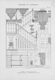 staircase section detail architect drawing stairs architecture