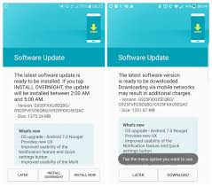 update android os how to galaxy s6 and s6 edge nougat ota update and