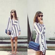 zara striped dresses lookbook