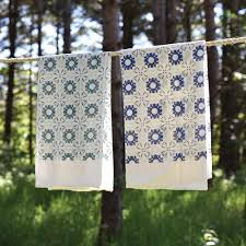 winter chicory kitchen towels set of 2 made in usa june