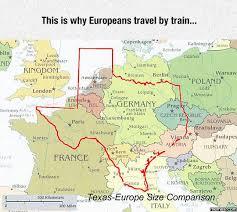 Texas travel meme images Texas europe size comparison