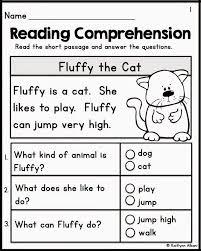 kindergarten reading comprehension worksheets kelpies fo koogra