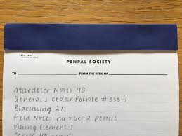 From The Desk Of Notepads Three Potato Four Penpal Society Notepad The London Parchment