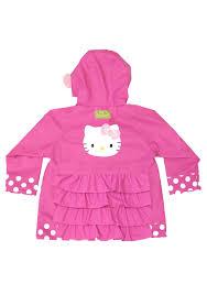 kitty pink child raincoat