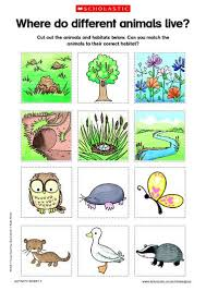 printable animal activities animals and habitats free printable science an investigation of