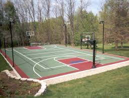 Backyard Tennis Courts Multi Sport Game Courts Lake Shore Sport Court