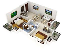 good basic d house floor plan top view stock photo with 3d house