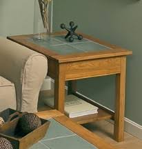 golden oak end tables slate top end table with shelf accents manchesterwood com