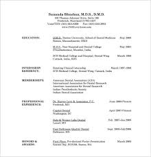 bunch ideas of dentist resume sample india with template gallery