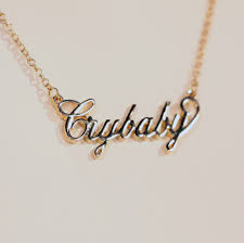 baby name plate bracelet crybaby nameplate necklace accessories aesthetic