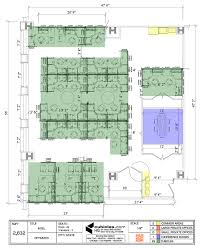 air force one layout floor plan office with cubicles commom areas