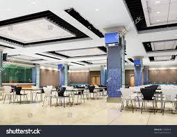 modern restaurant interior3d render stock photo 31299814
