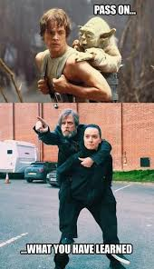 Luke Meme - pass on what you have learned luke and yoda in star wars http