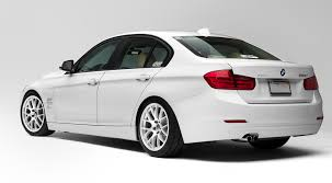 matte white bmw 328i vinyl wrap on rear diffuser no line