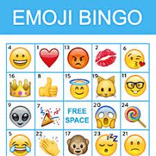 emoji bingo printables free download birthday catch my party
