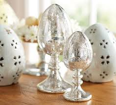 mercury glass egg stands pottery barn