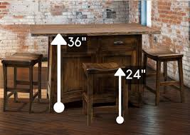 bar height table height standard height vs counter height vs bar height amish dining tables