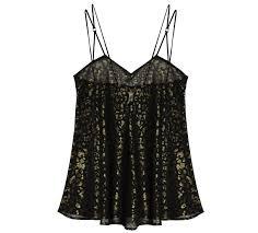 play black gold babydoll gold print luxury nightwear designer