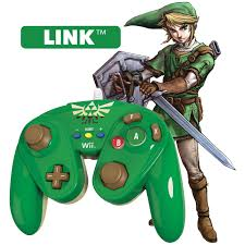 pdp link wired fight pad for wii u green nintendo wii u