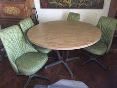 chromcraft table and chairs harvest gold chromcraft vintage kitchen table chair set dining room