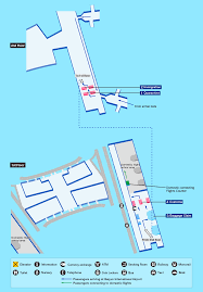 Chicago Ohare Terminal Map by Airport Guide International At The Airport In Flight