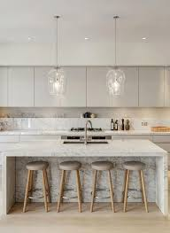 island kitchen bench best 25 contemporary kitchen island ideas on