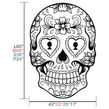sugar skulls home decor aliexpress com buy sugar skull mexico floral swirl home