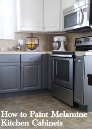 How To Refinish Kitchen Cabinets With Paint Painting Melamine Kitchen Cabinets The Decorologist