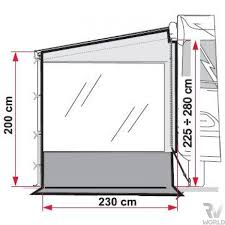 Fiamma Awning Spares Side Wall For Fiamma F45 Awning Shop Rv World Nz
