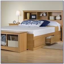 full size storage bed bookcase headboard headboard home