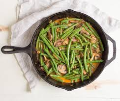 paleo spicy green bean skillet wholesomelicious