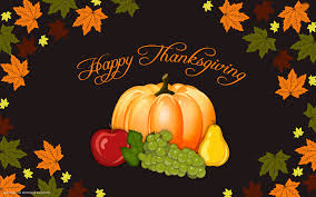 happy thanksgiving day vector pumpkin autumn leaves hd