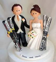 bride and groom wedding cake topper with pets by alittlerelic